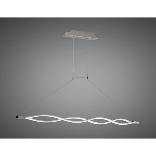 Mantra M5815 Sahara XL Pendant 42W LED 3000K, 3400lm, Dimmable Silver Frosted Acrylic Polished Chrome
