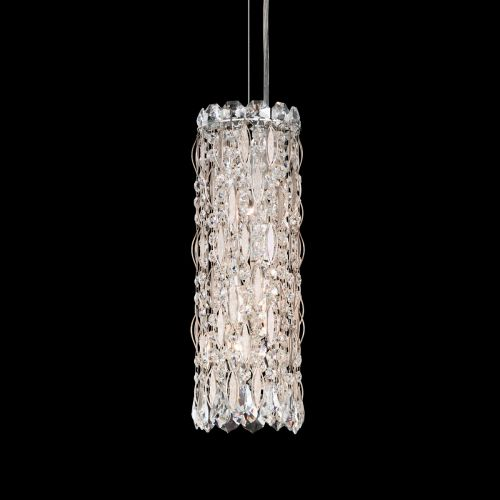 Schonbek Sarella 3 Light Pendant Fitting Antique Silver Spectra Crystal RS8341E-48A