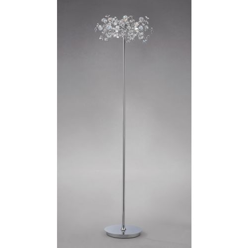 Diyas IL31402 Savanna Floor Lamp 3 Light Polished Chrome Crystal