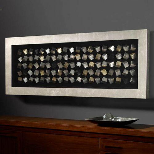 Schuller 751213 Cubic Wall Art Decor Sculpture Silver Frame