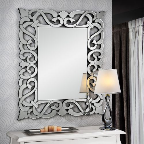 Schuller 118624 Dunia Bevelled Mirror Silver Finish