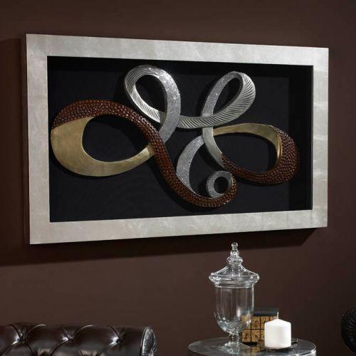 Schuller 751415 Lazos Wall Art Decor Sculpture Silver Frame
