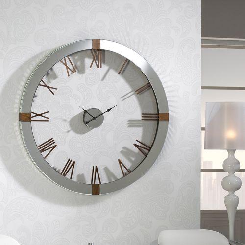 Schuller 564803 Times Large Ash Wood Clock Silver Frame