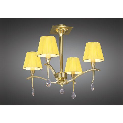 Mantra Siena 4 Light Polished Brass Ceiling Fitting M0345PB