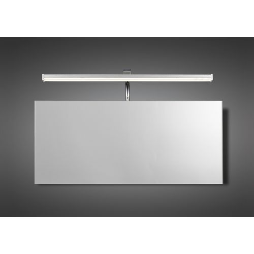 Mantra M5085 Sisley Wall Lamp 7W LED Chrome IP44 4000K 420lm Silver Frosted Acrylic Polished Chrome