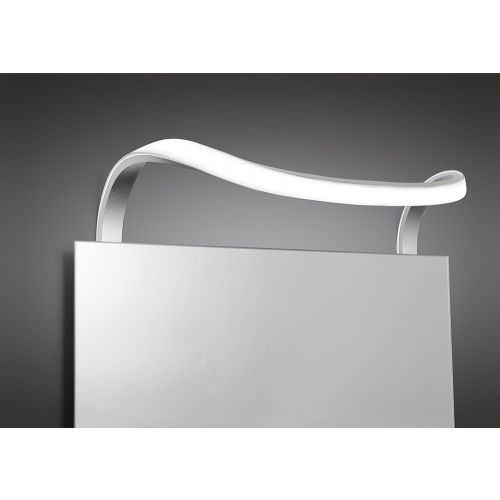 Mantra M5087 Sisley Wall Lamp 12W LED Chrome IP44 3000K 840lm Silver Frosted Acrylic Polished Chrome