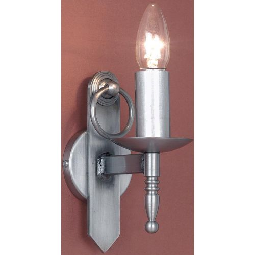 Impex SMRR00161/STR Mitre 1 Light Sterling Iron Single Wall Light