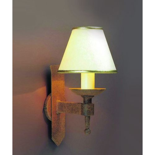 Impex SMRR01071/A Saxon 1Lt Aged Iron Single Wall Light