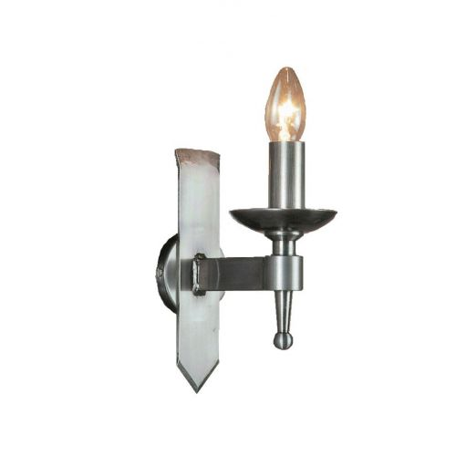 Impex SMRR01071/STR Saxon 1Lt Sterling Iron Single Wall Light