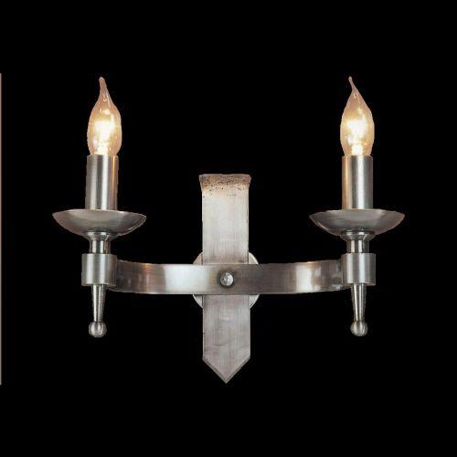 Impex SMRR01072/STR Saxon 2Lt Sterling Twin Wall Light