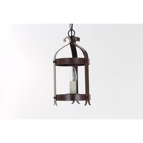 Impex SMRRV00005/A Villa 1Lt Aged Iron Ceiling Hanging Lantern