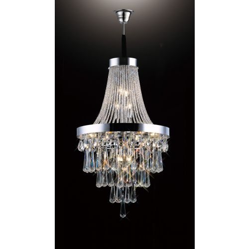 Diyas IL31430 Sophia Crystal 13 Light Pendant Polished Chrome Frame