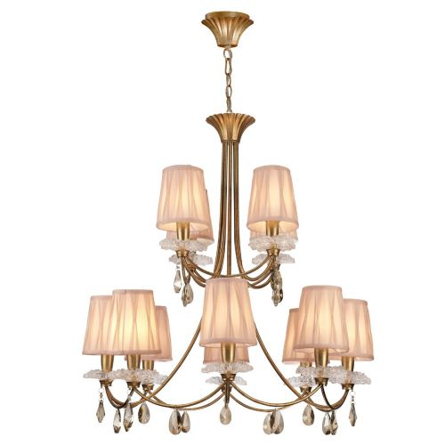 Mantra M6290 Sophie Extra Large 12 Light Gold Chandelier