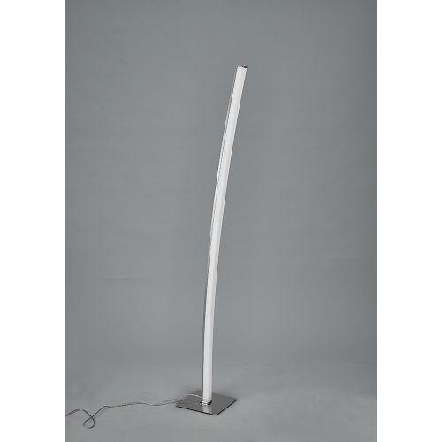 Mantra M5104 Surf Floor Lamp 23W LED Satin Nickel Polished Chrome 3000K 1590lm