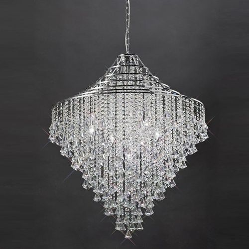 Diyas IL30773 Inina Crystal 9 Light Pendant Polished Chrome Frame