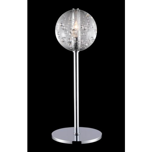 Avivo Bubbles TL1302-1A CH/CL 1 Light Table Lamp Chrome Clear Glass Fitting