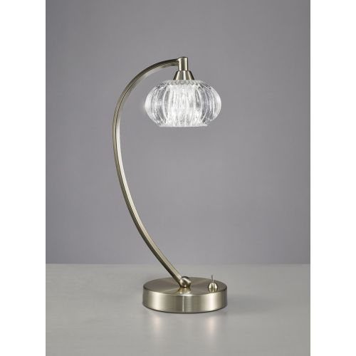 Franklite Ripple Satin Nickel Table Lamp TL987