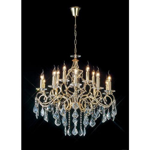 Diyas IL303210+5 Torino Pendant 15 Light French Gold Crystal
