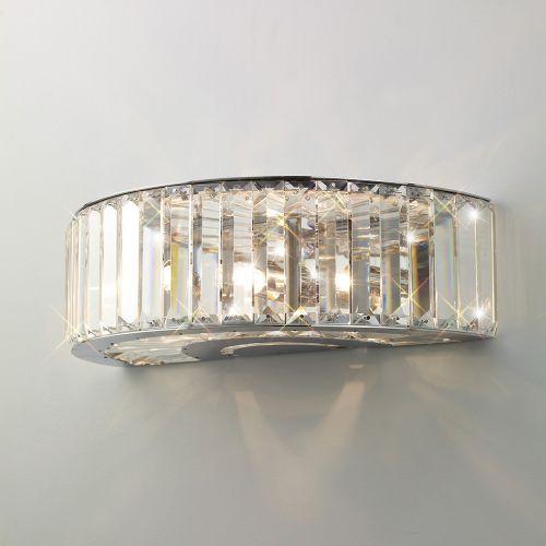 Diyas IL30071 Torre Crystal Triple Wall Lamp Polished Chrome Frame