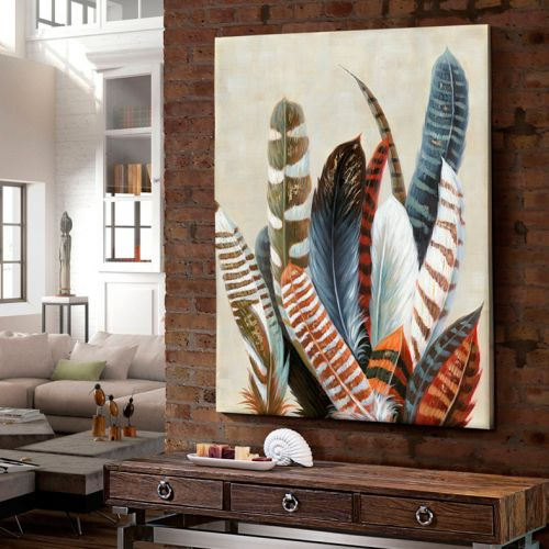 Schuller 586107 Ucelli Acrylic Feathered Wall Art
