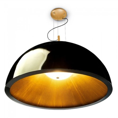 Grok 00-2726-AP-05 Umbrella Large 3Lt Black Gold LED Ceiling Pendant