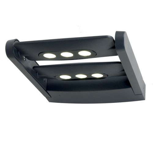 Elstead SIGMUND Sigmund 6Lt LED Graphite Grey IP65 Outdoor Wall Light