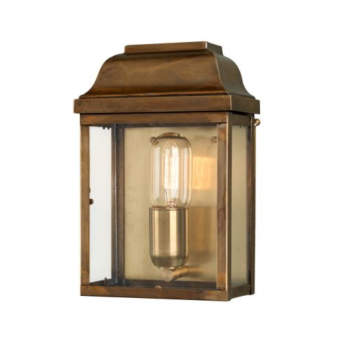 Elstead Victoria Solid Brass Outdoor Wall Lantern