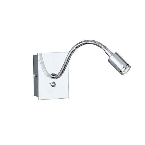 Franklite 1 Light Chrome Flexible LED Reading Wall Light WB930