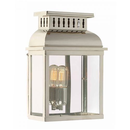 Elstead WESTMINSTER PN Westminster 1Lt Polished Nickel Outdoor Wall Lantern