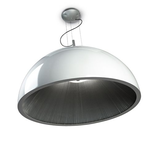 Grok 00-2726-AQ-78 Umbrella White and Silver LED Large Ceiling Pendant