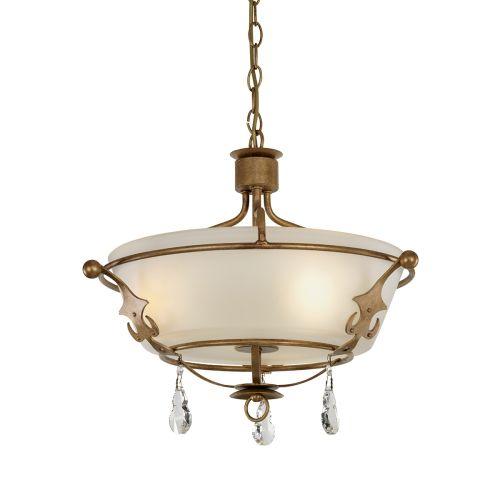 Elstead Windsor Semi Flush Light Gold Patina ELS/WINDSOR/SF