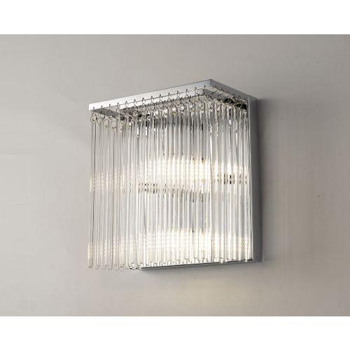 Diyas Zanthe Polished Chrome 3 Light Wall Bracket IL30011/G9