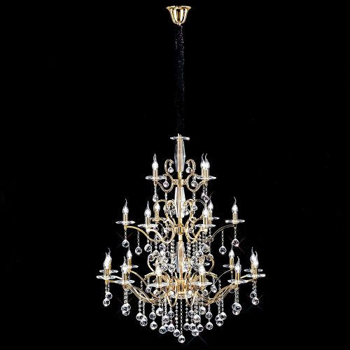 Diyas IL30226+4+12 Zinta Pendant 3 Tier 22 Light French Gold Crystal