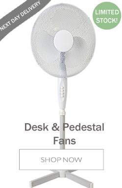 Desk Fan and Pedestal Fan Offer